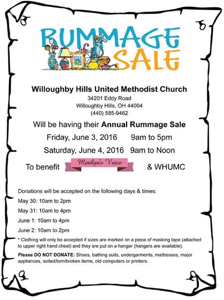 MV-WHUMCRummage Sale